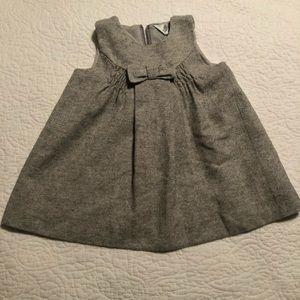 Grey baby dress. Bebe by Minihaha.